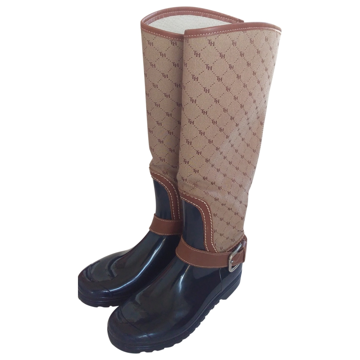 Tommy Hilfiger \N Leather Boots for Women 38 EU