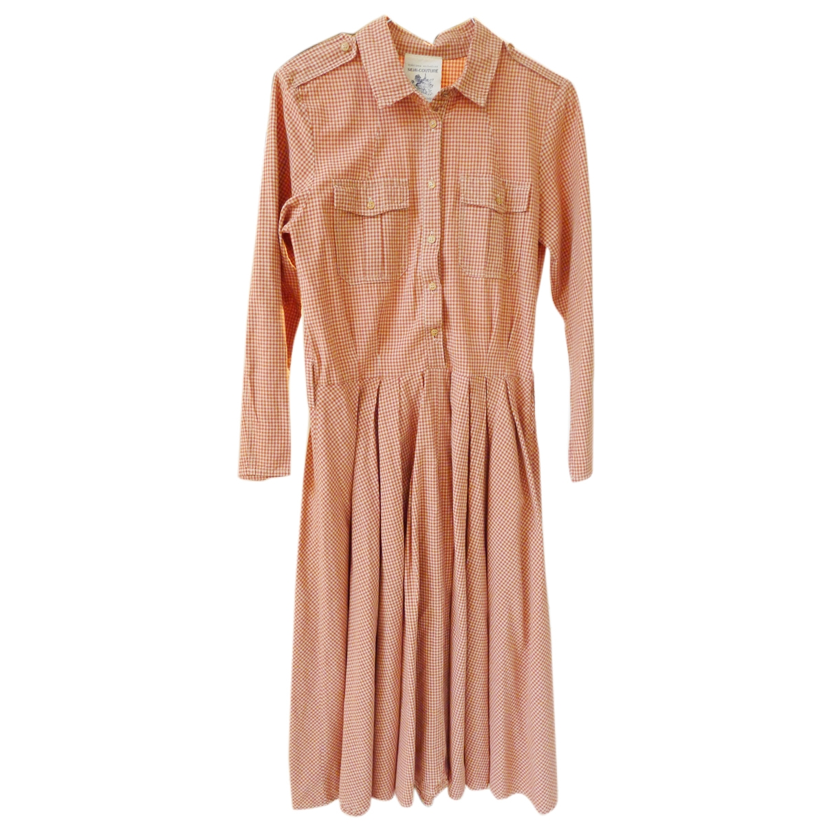 Semicouture \N Pink Cotton dress for Women 42 IT