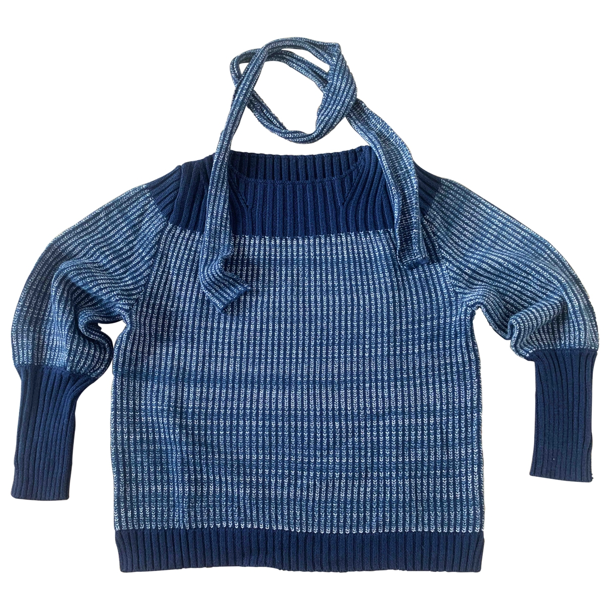 Non Signé / Unsigned \N Blue Wool Knitwear for Women S International