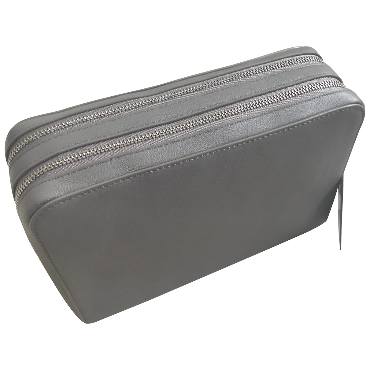 All Saints \N Grey Leather Purses, wallet & cases for Women \N