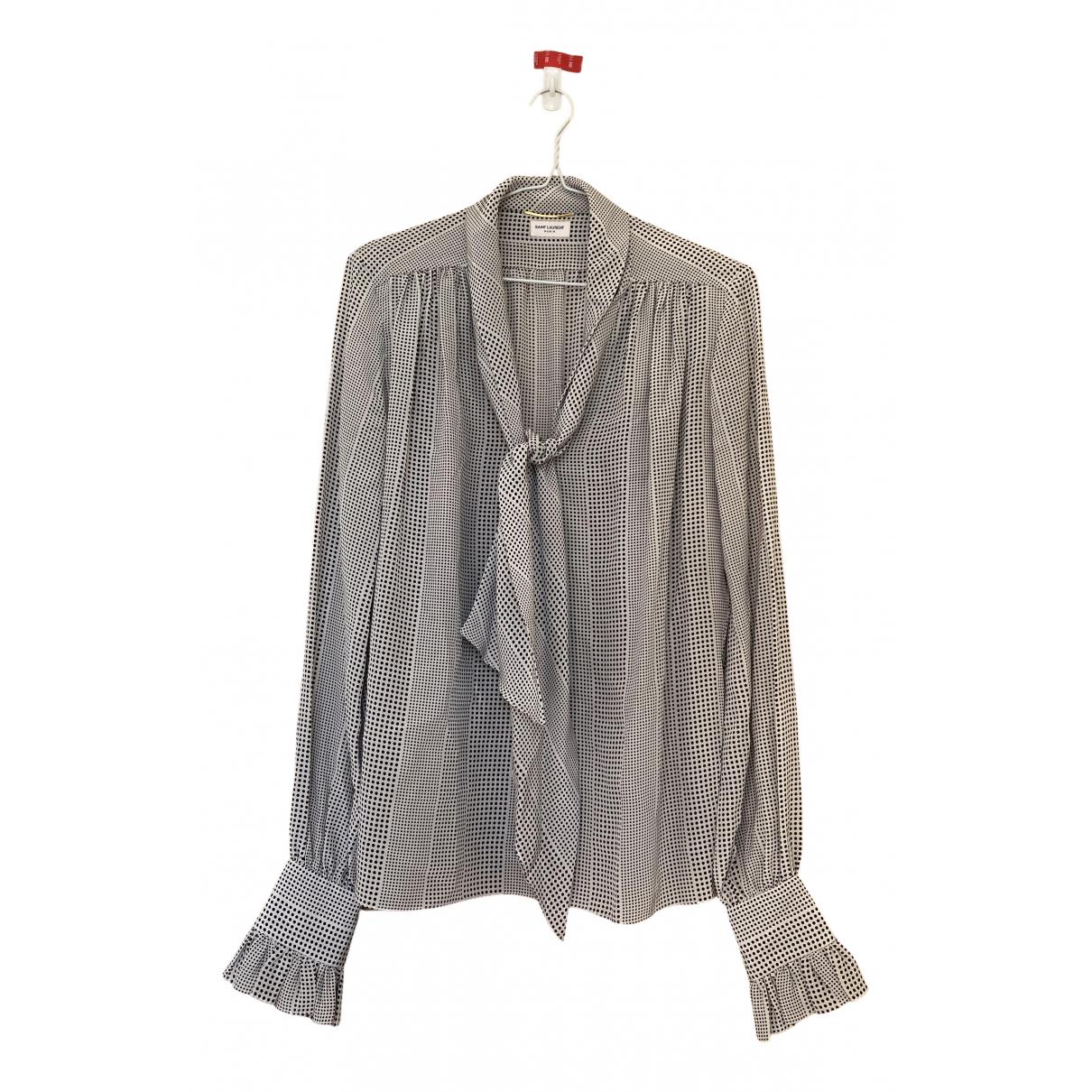 Saint Laurent N Multicolour Silk  top for Women 38 FR