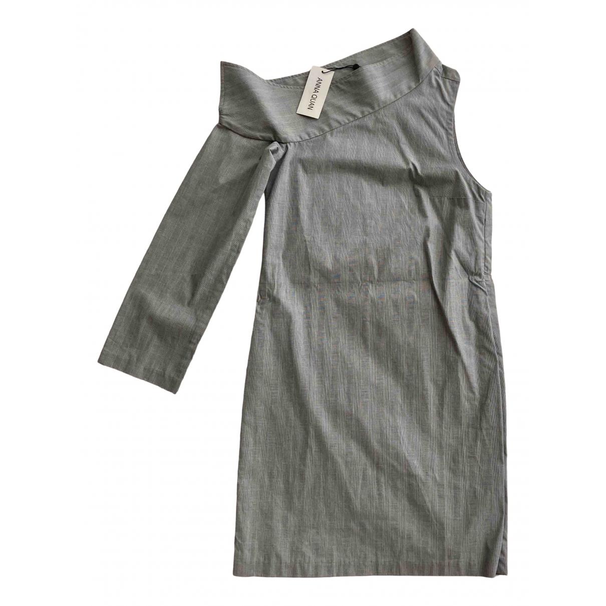 Anna Quan \N Kleid in  Grau Baumwolle - Elasthan