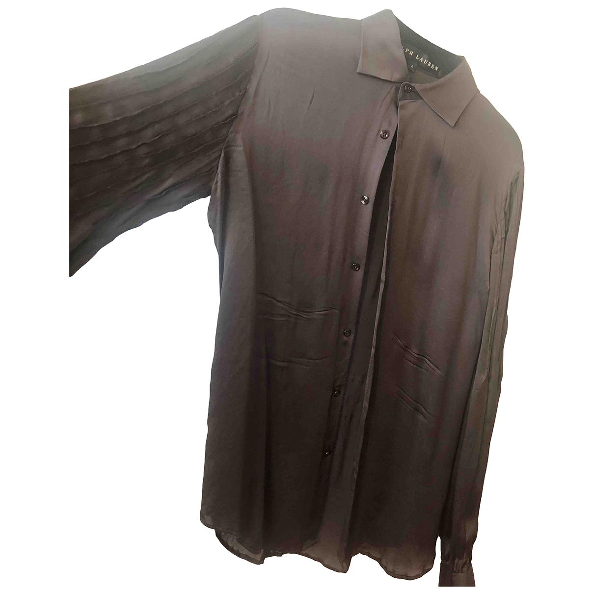 Ralph Lauren N Brown Silk  top for Women 4 US