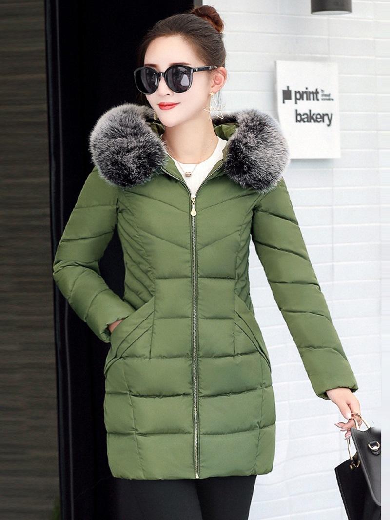 Ericdress Plain Zipper Mid-Length Long Sleeves Coats
