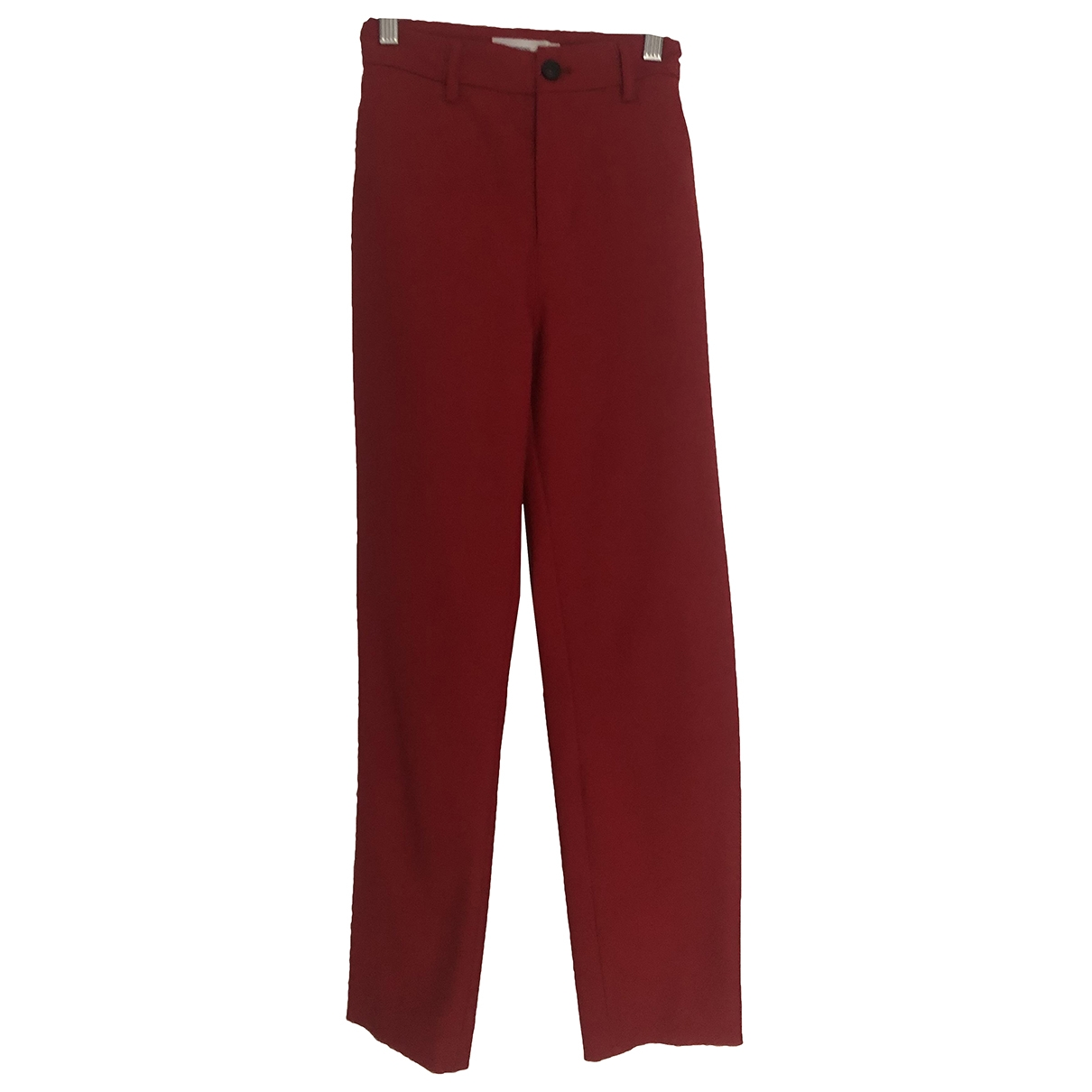 Closed \N Red Trousers for Women 38 FR
