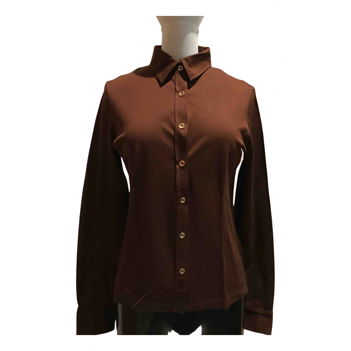 Fay N Brown Cotton  top for Women 46 IT