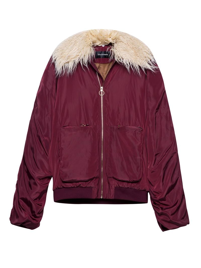 Ericdress Loose Pocket Patchwork Mid-Length Zipper Jacket