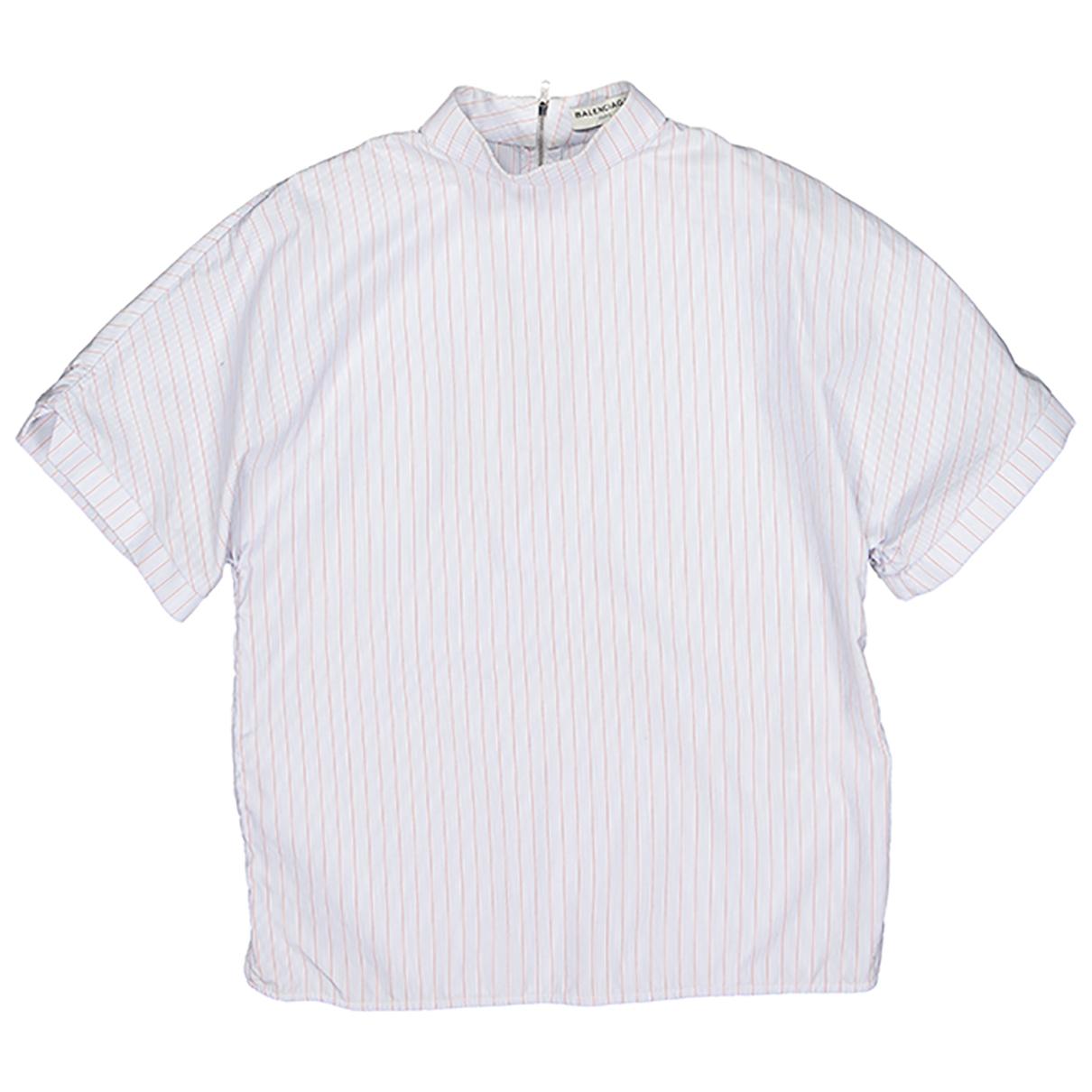 Balenciaga - Top   pour femme en coton - bleu