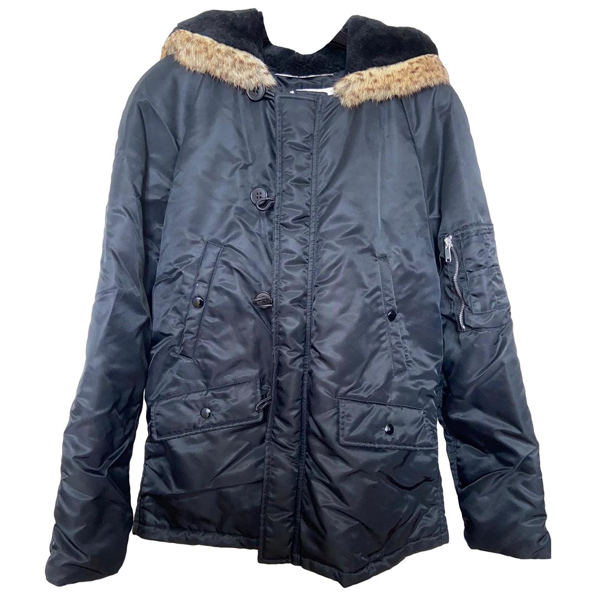 Saint Laurent - Manteau   pour homme en agneau de mongolie - noir