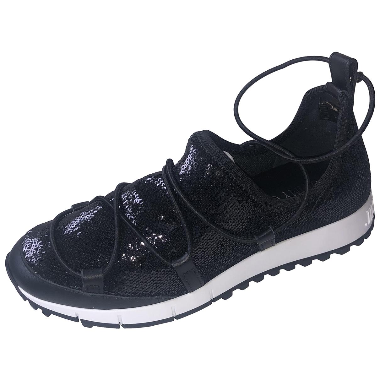 Jimmy Choo - Baskets   pour femme en a paillettes - noir
