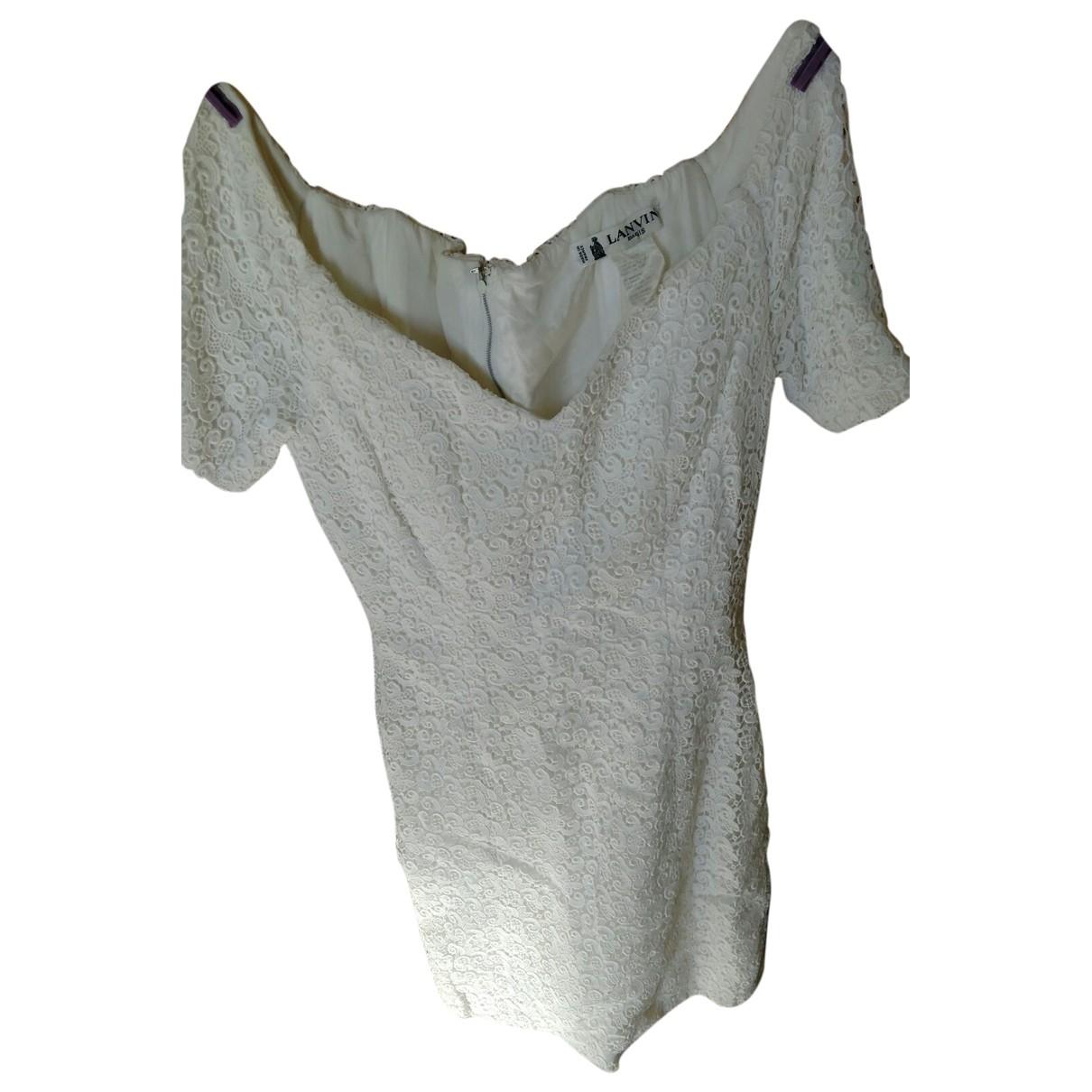 Lanvin \N White Cotton dress for Women 36 FR