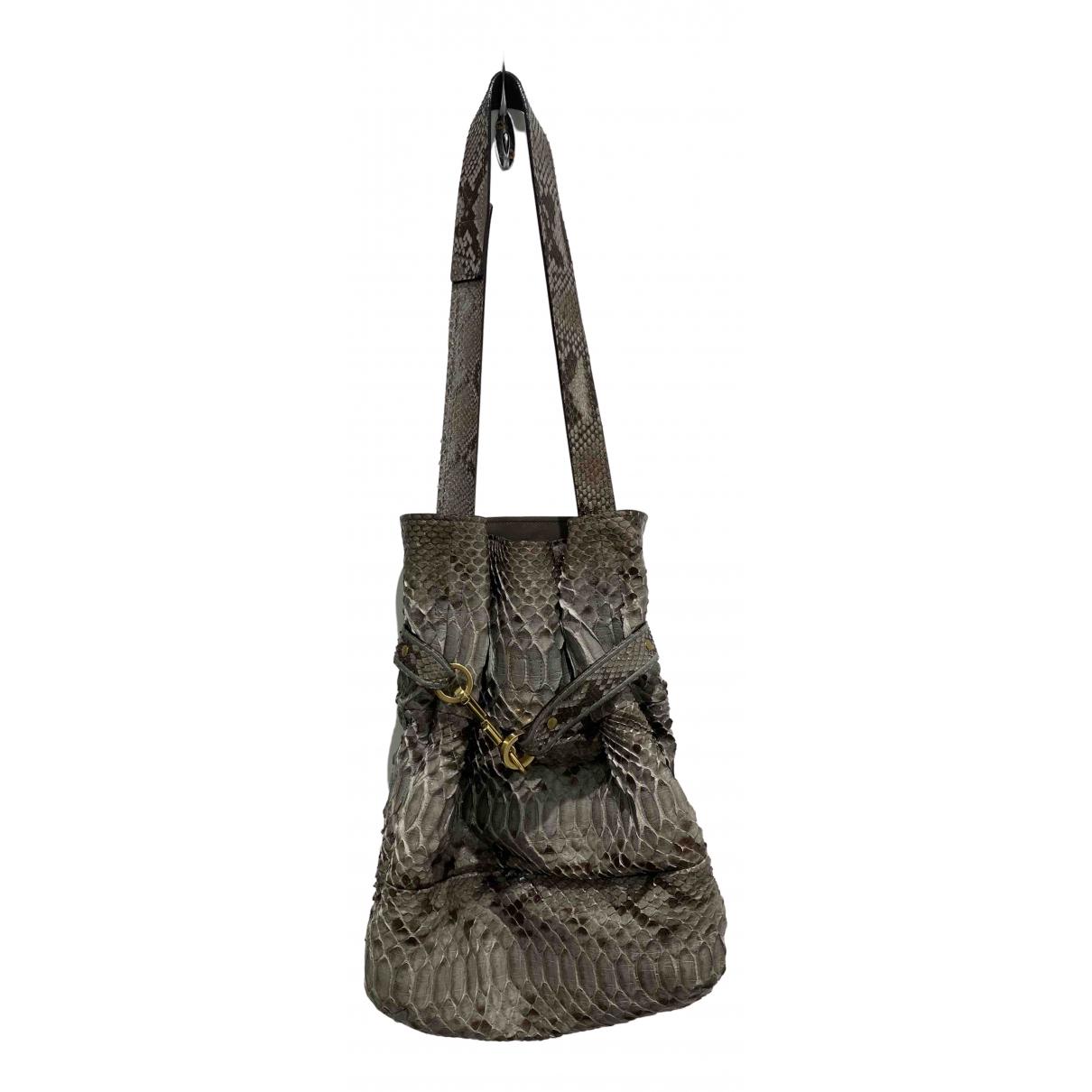 Chloe \N Handtasche in  Grau Python