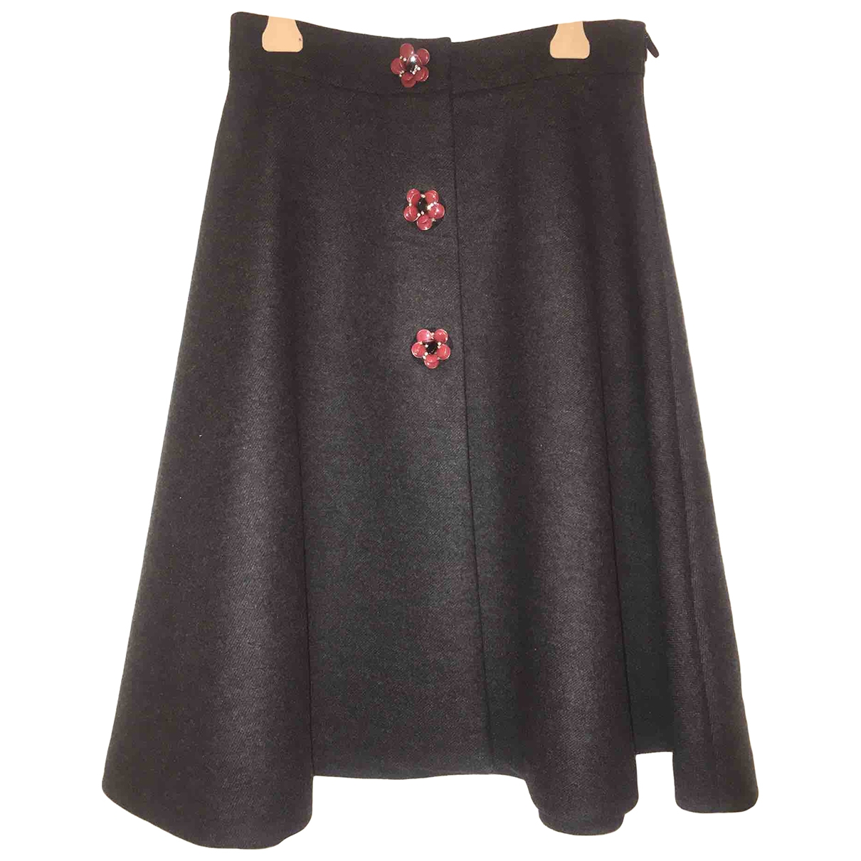 Miu Miu \N Grey Wool skirt for Women 44 IT