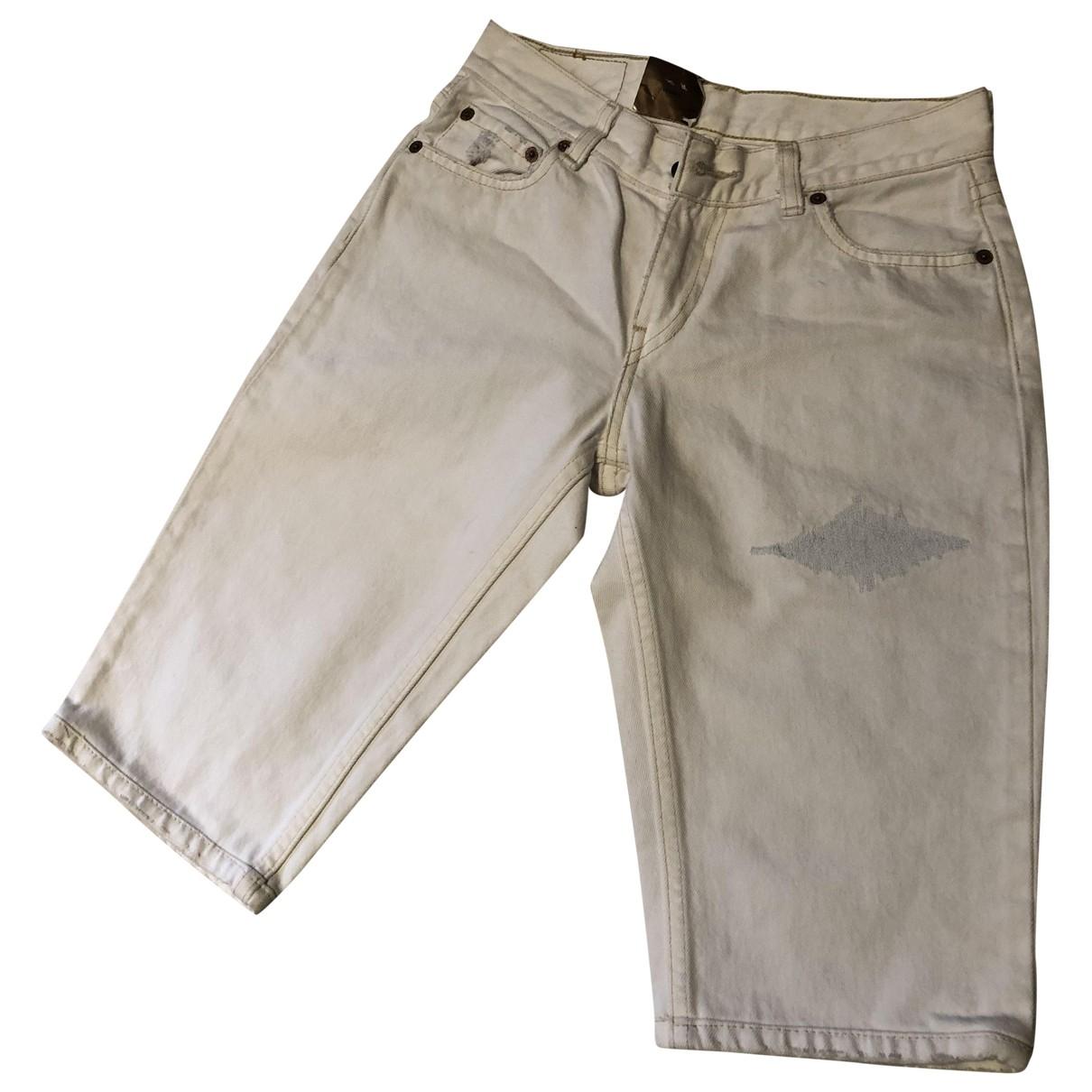 Levis - Jean   pour femme en coton - blanc