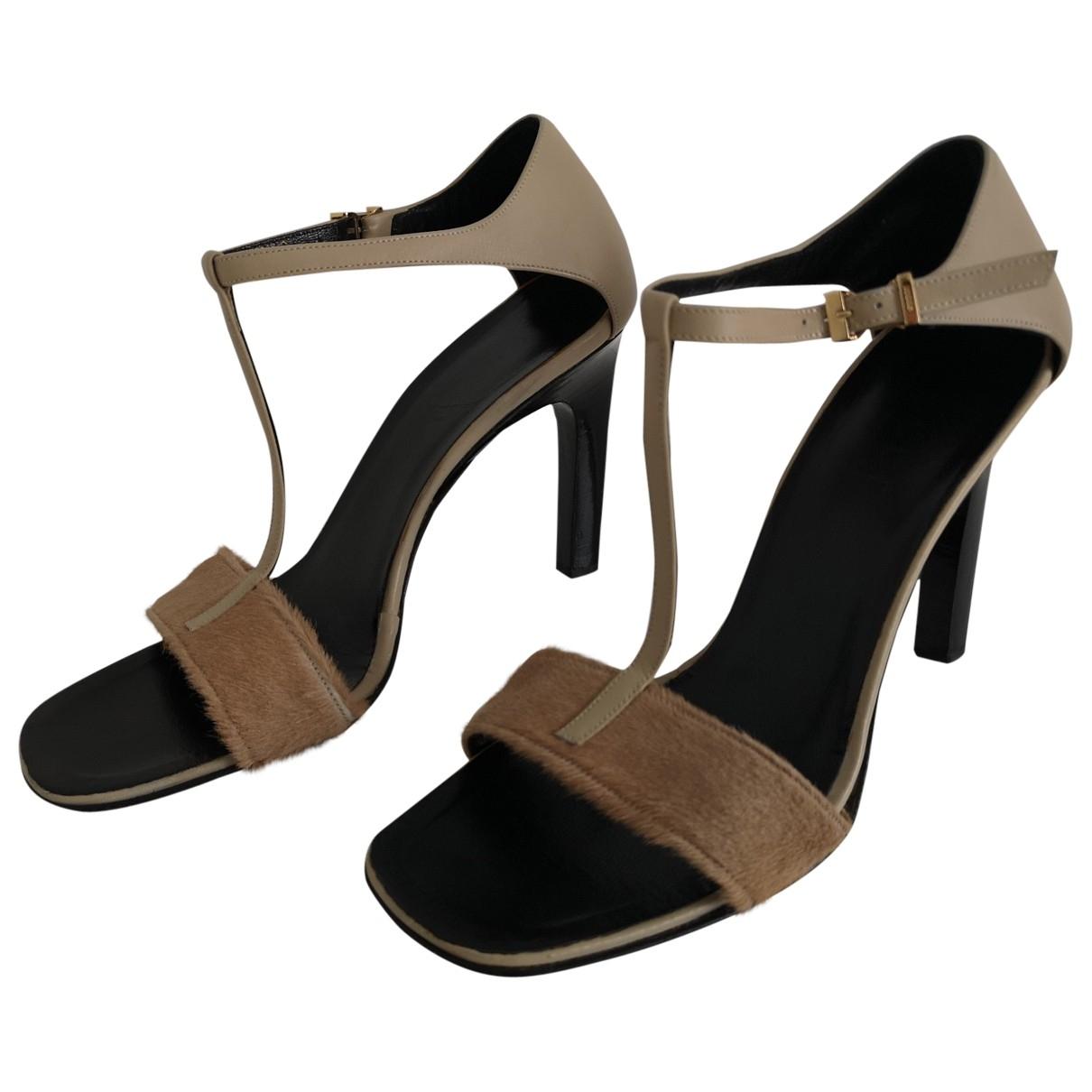 Gucci - Sandales   pour femme en cuir - beige