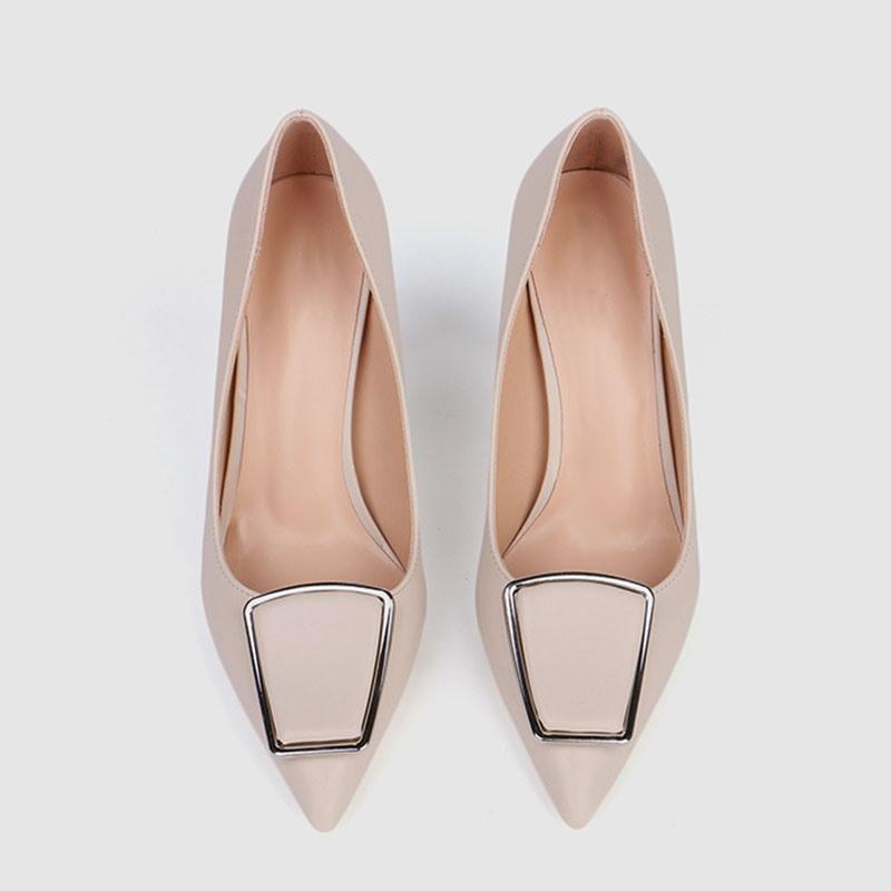Ericdress Plain Pointed Toe Stiletto Heel Slip-On Pumps