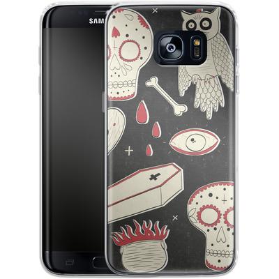 Samsung Galaxy S7 Edge Silikon Handyhuelle - Halloween Essentials von caseable Designs
