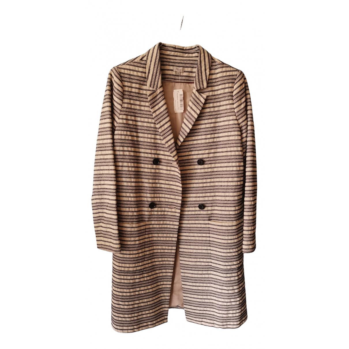 Hoss Intropia - Manteau   pour femme en coton - blanc