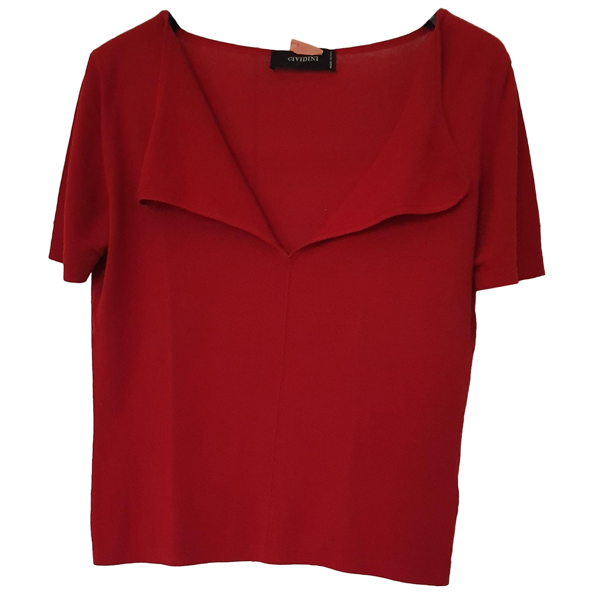 Non Signé / Unsigned \N Red Cotton  top for Women 42 IT