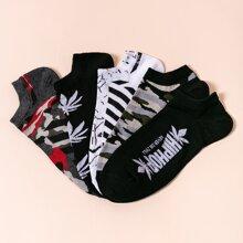 5 Paare Herren Farbblock Socken