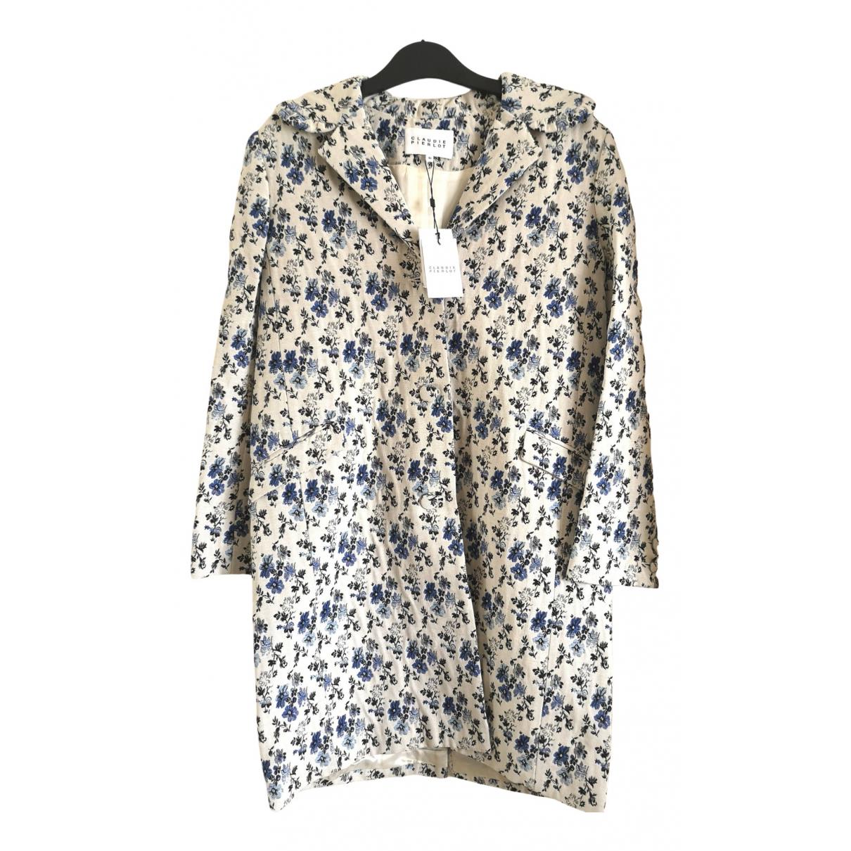 Claudie Pierlot \N White Cotton coat for Women 40 FR