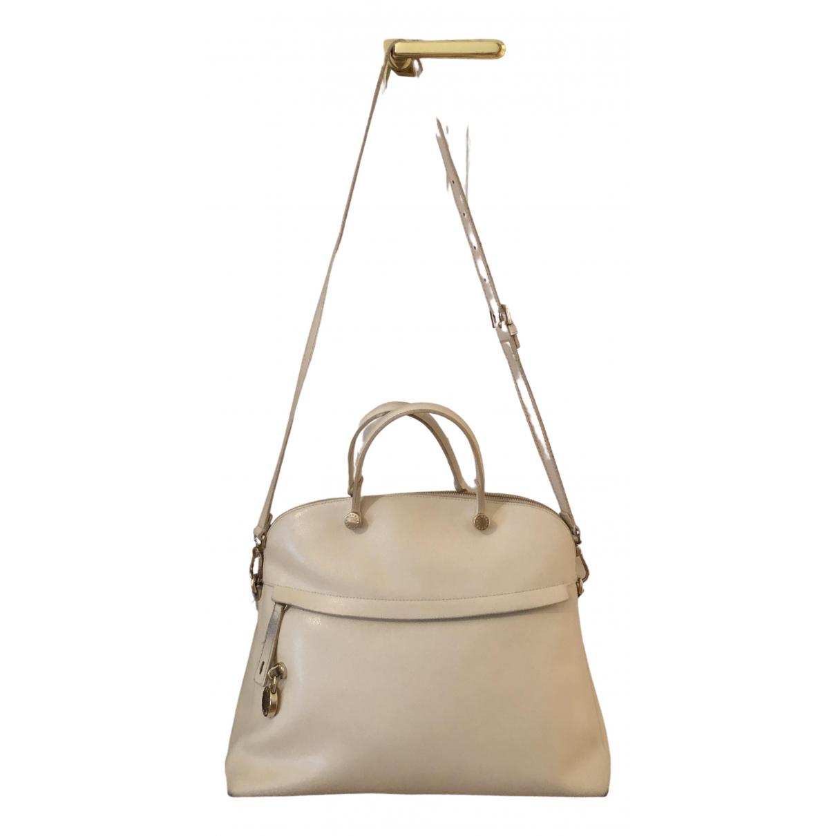 Furla \N Ecru Leather handbag for Women \N