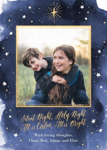 Religious Christmas Cards Mail-for-Me Premium 5x7 Folded Card , Card & Stationery -The Star in the East - Folded