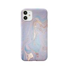 Funda de iphone luminosa con estampado de marmol