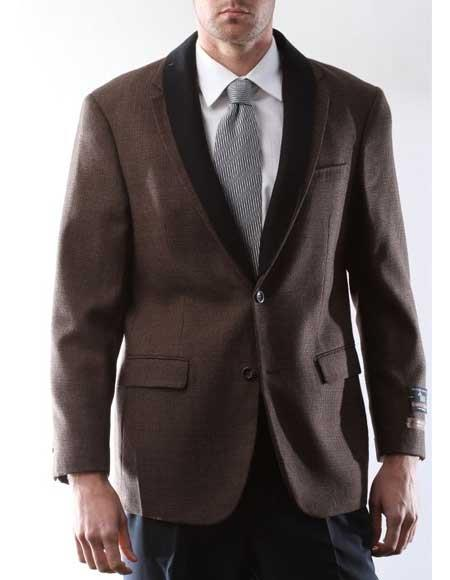 Men's 100% Lamb Wool 2 Buttons Single Breasted Vicuna Sport Coat