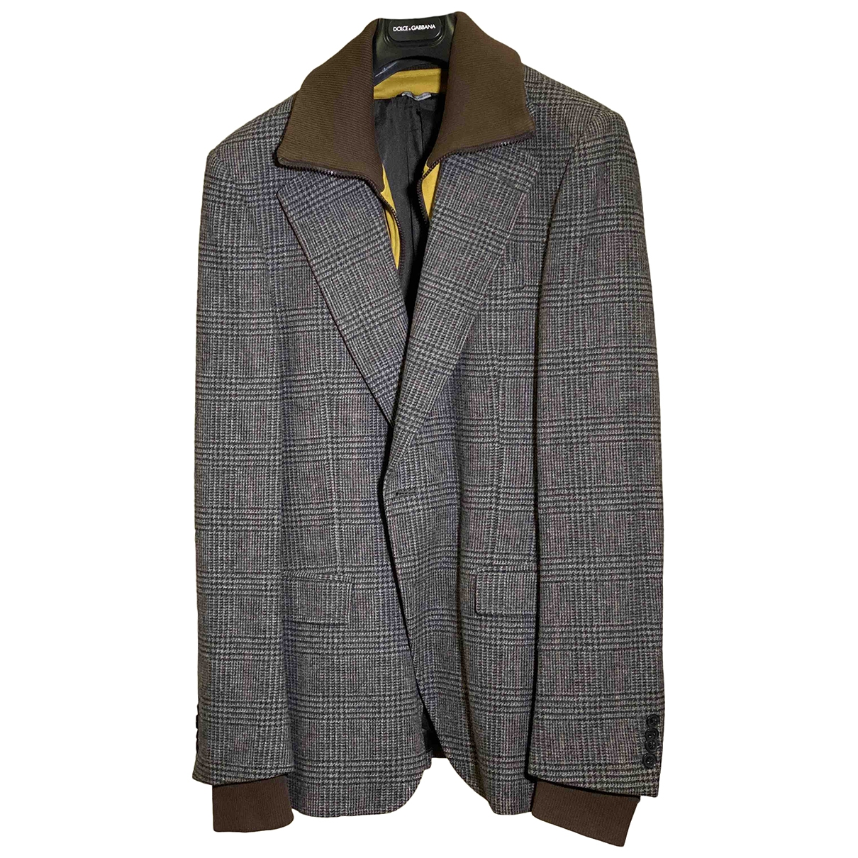 Dolce & Gabbana \N Anthracite Wool jacket  for Men 50 IT