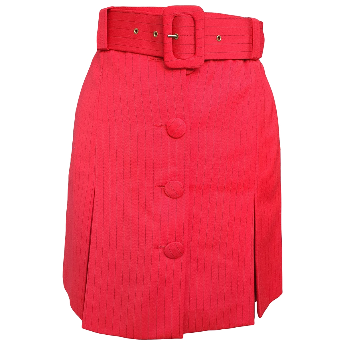 Non Signé / Unsigned \N Red Wool skirt for Women 36 FR