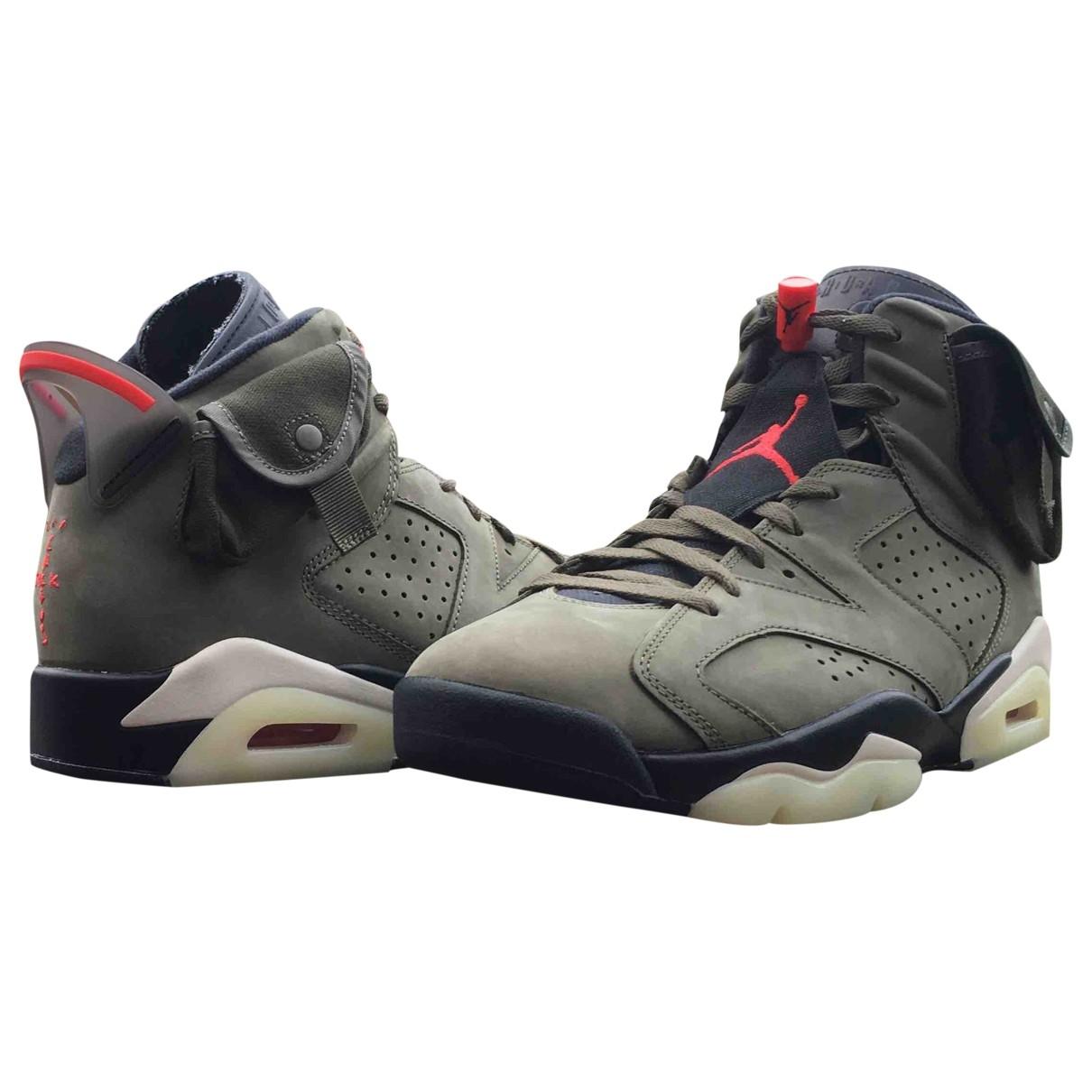 Deportivas Jordan 6  de Cuero Nike X Travis Scott