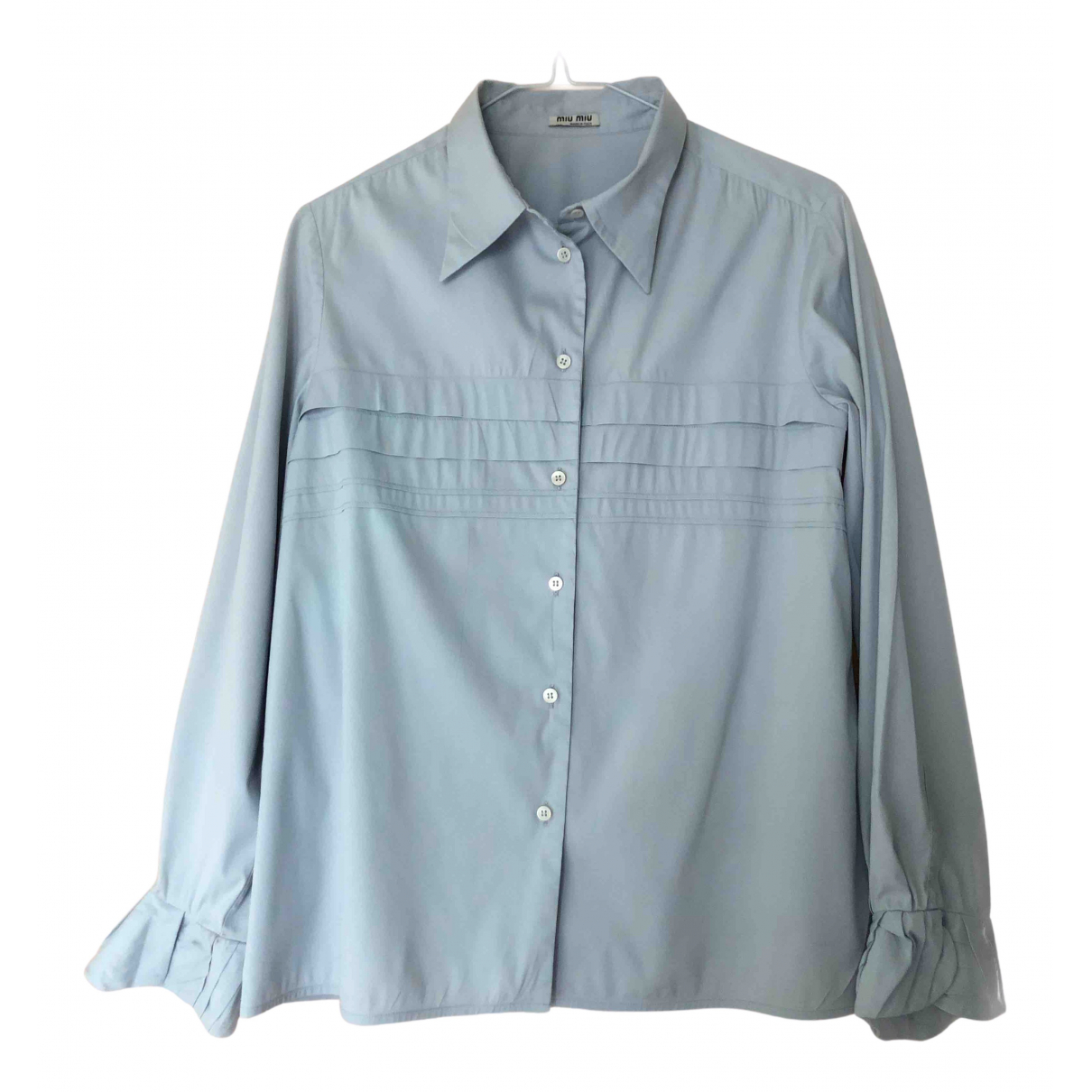 Miu Miu N Blue Cotton  top for Women 42 IT