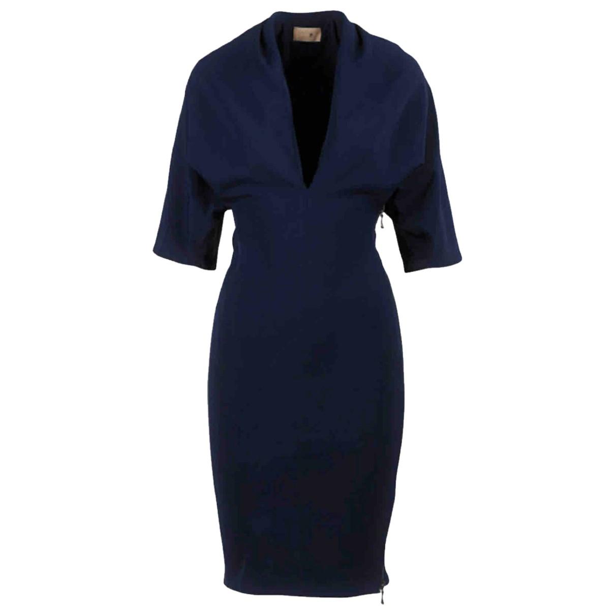 Lanvin \N Kleid in  Blau Polyester