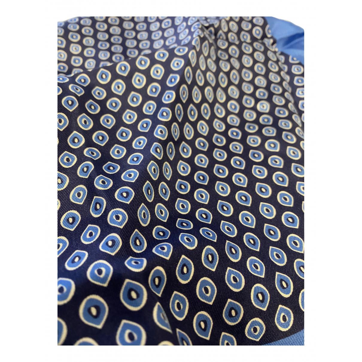 Kiton - Cheches.Echarpes   pour homme en soie - bleu