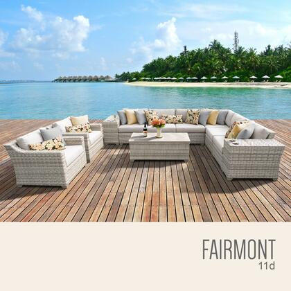 FAIRMONT-11d Fairmont 11 Piece Outdoor Wicker Patio Furniture Set 11d with 1 Cover in