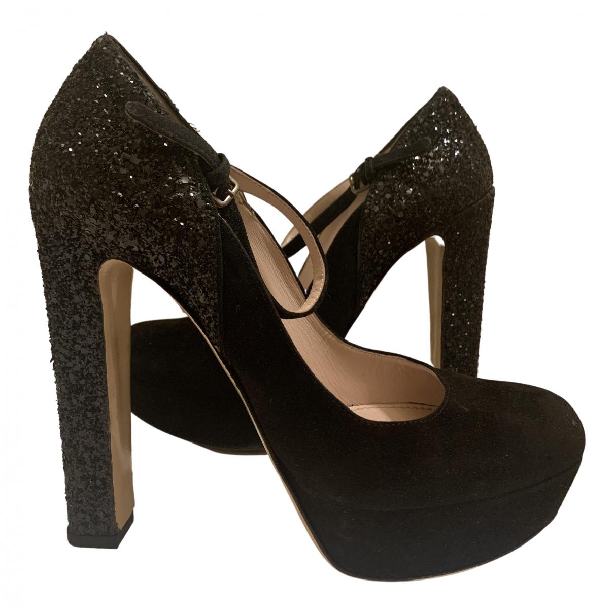 Miu Miu N Black Suede Heels for Women 39 IT