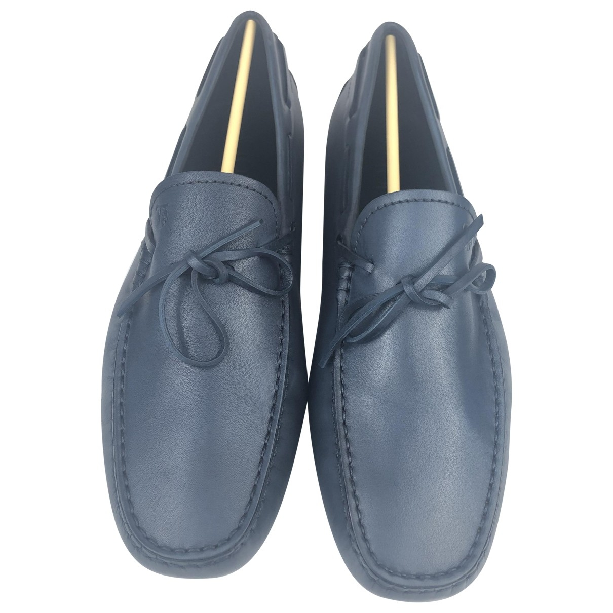 Tod's \N Navy Leather Flats for Men 7.5 UK