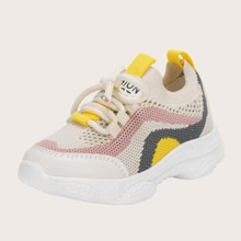Toddler Boys Lace-up Decor Sneakers