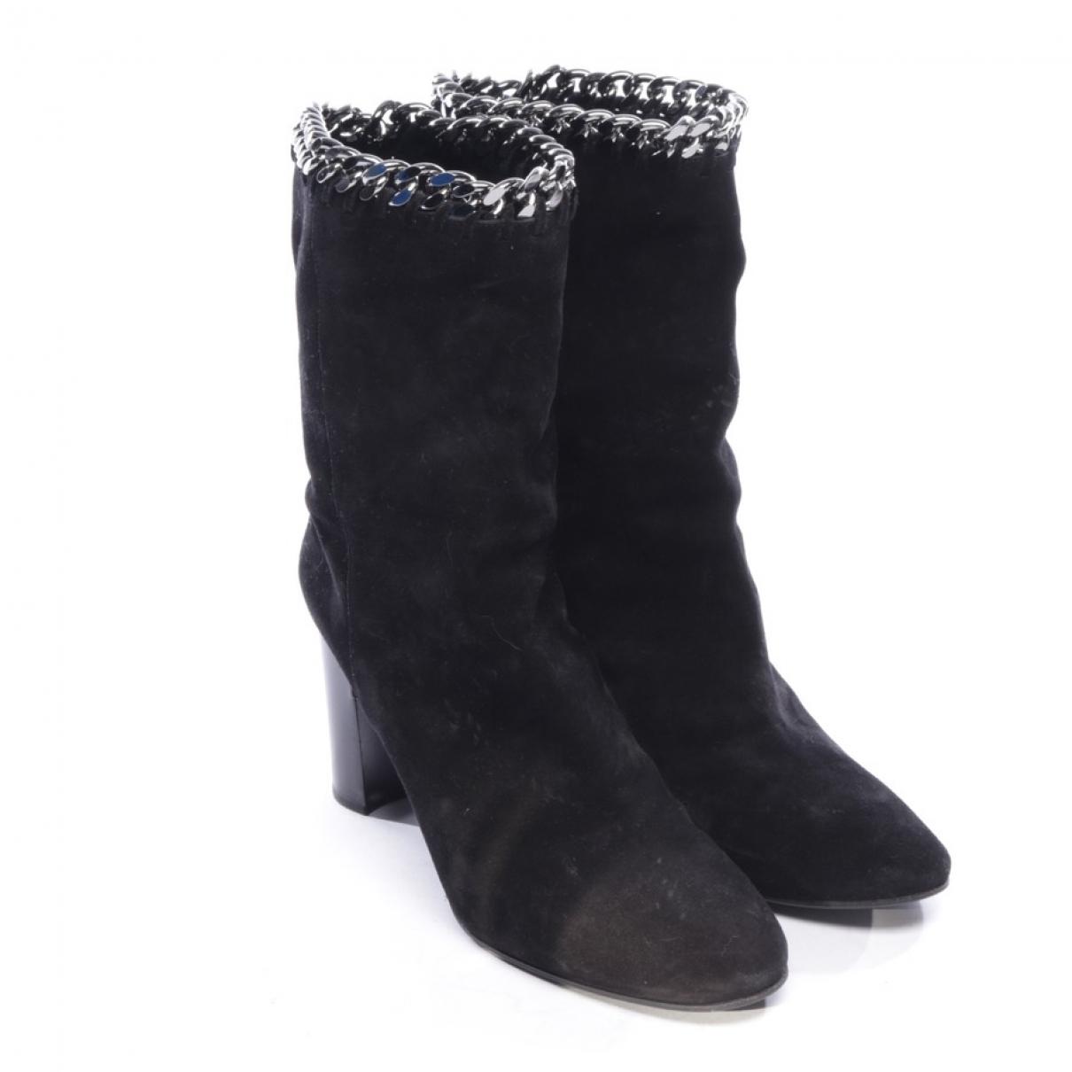 Casadei - Bottes   pour femme en cuir - noir