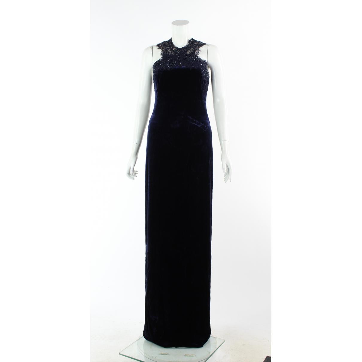 Marchesa Notte \N Navy Velvet dress for Women 0 0-5