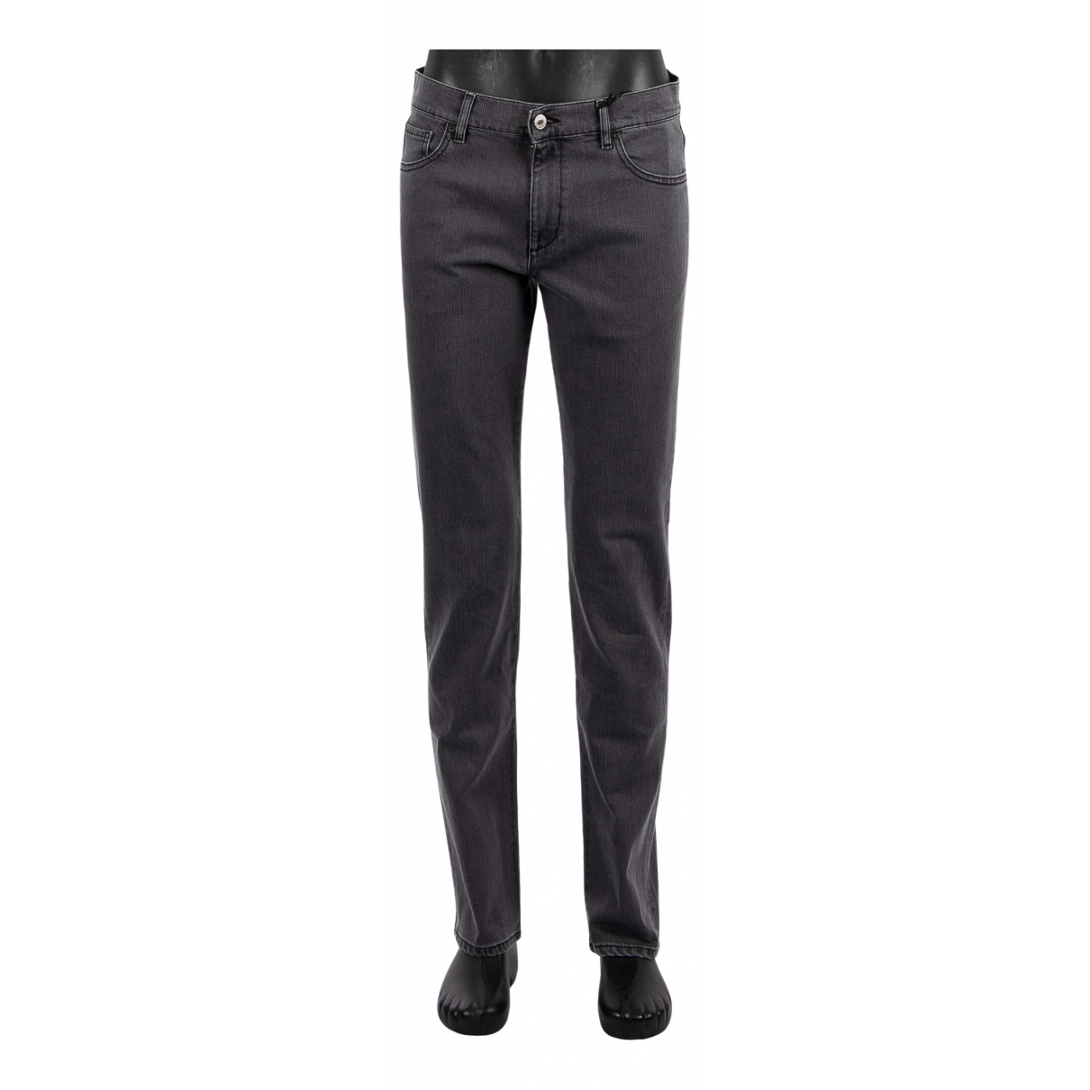 Moschino \N Anthracite Cotton Trousers for Men 50 IT