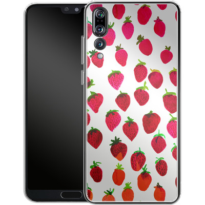 Huawei P20 Pro Silikon Handyhuelle - Strawberries von Amy Sia