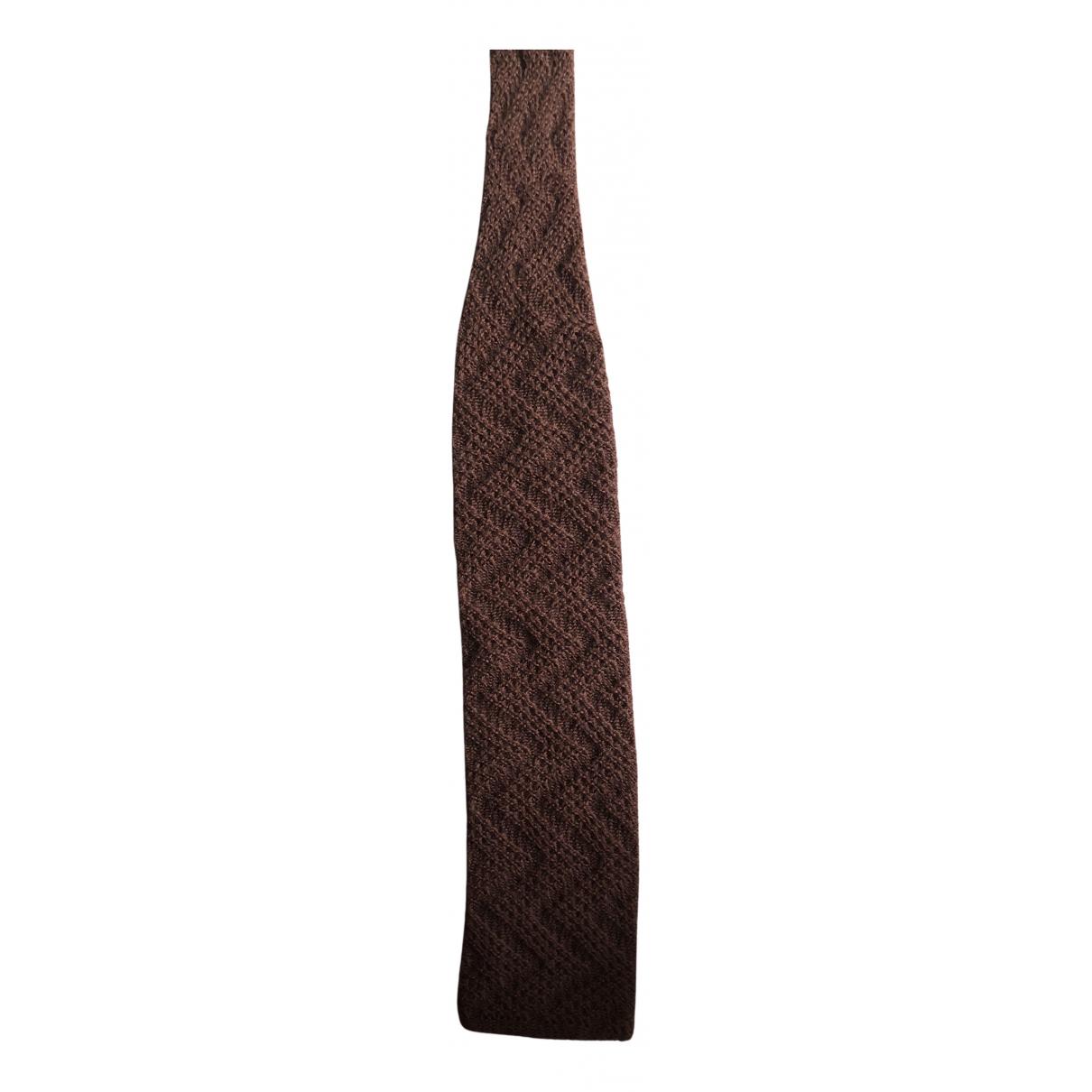 Valentino Garavani \N Krawatten in  Braun Wolle