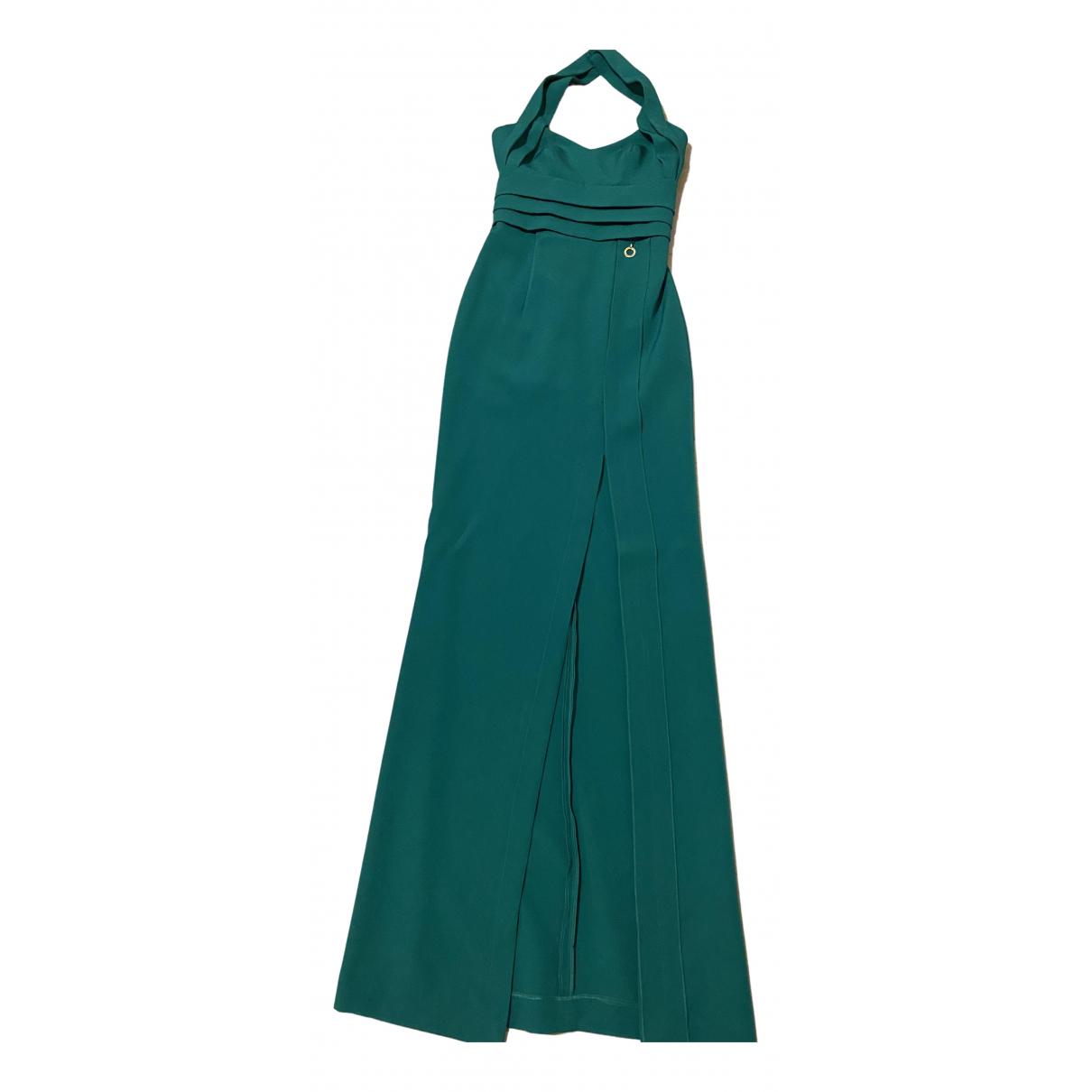 Mangano \N Kleid in  Gruen Baumwolle - Elasthan