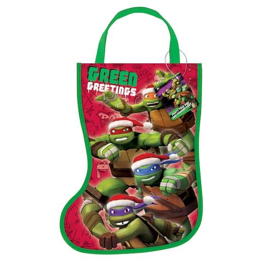 Plastic Teenage Mutant Ninja Turtles Christmas Stocking Favor Bag, 13