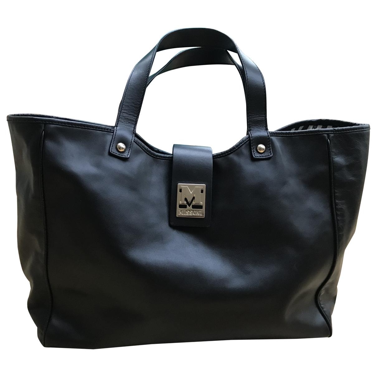 M Missoni \N Black Leather handbag for Women \N