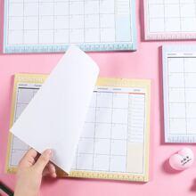 1pack Monthly Plan Random Memo Pad