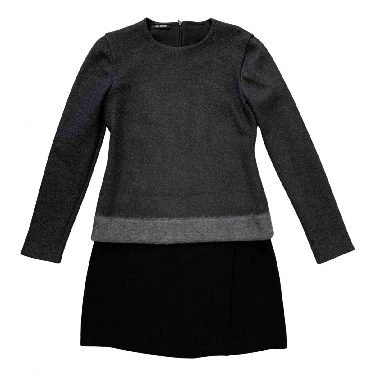 Neil Barrett \N Kleid in  Grau Wolle