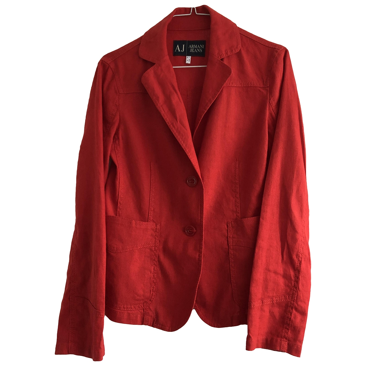 Armani Jeans \N Red Linen jacket for Women 8 US